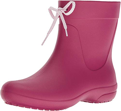 Crocs Freesail Shorty Rain Boots, Damen Gummistiefel, Pink (Berry), 38/39 EU