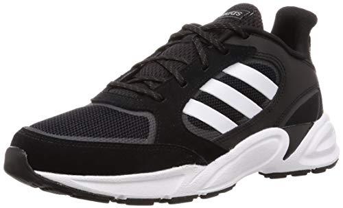 Adidas 90s VALASION, Zapatillas de Trail Running Hombre, Noir Blanc Gris Foncã, 47 1/3 EU