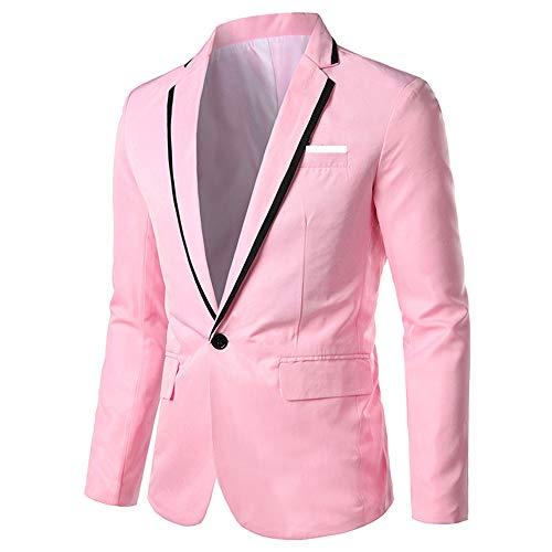 YOUTHUP Herren Sakko Freizeit Slim Fit Modern Anzugjacke Fallendes Revers für Hochzeit Party Abschluss Business