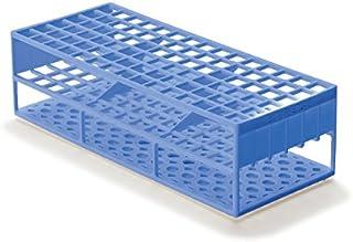 قفسه لوله آزمایشگاهی آزمایشگاهی برای آزمایش لوله های 13 میلی متر، آبی
