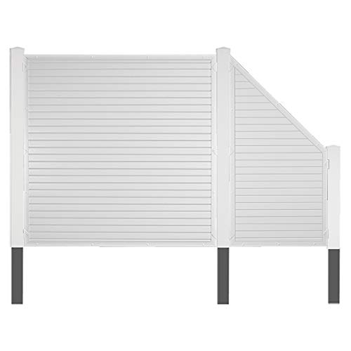 Komplett-Set Terrassen Sichtschutz-Zaun