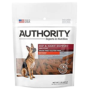Authority Hip & Joint Support Beef Jerky Stick Dog Treats – Beef
