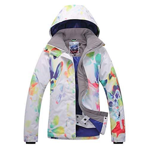 APTRO Damen Skijacke warm Jacke gefüttert Winter Jacke Outdoor Funktionsjacke Regenjacke Rot 9046 L
