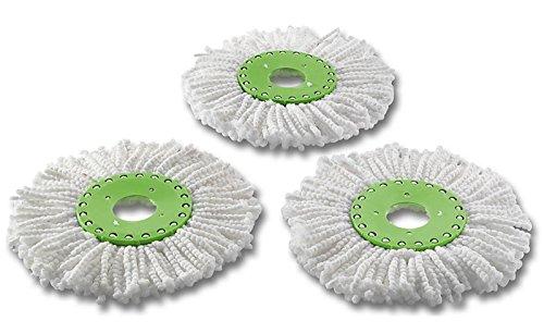3x Ersatz Set Mikrofaser Wischköpfe Mop f. Spin & Pro und Wischmop-Schleuder