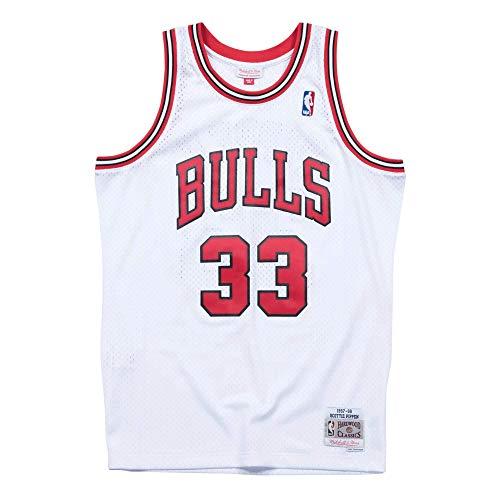 Mitchell & Ness NBA Chicago Bulls Home 1997-98 Scottie Pippen Swingman Jersey (White)