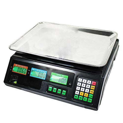 Thaweesuk Shop Best Choice Products 80 LB Digital Weight Scale Price Computing Deli Food Produce Electronic Counter