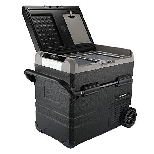 BougeRV 12 Volt Car Refrigerator Dual Zone, Portable Freezer Fridge APP Control, 59 Quart (55L) Compressor Freezer Fridge 12V/24V DC 110~240V AC, -4℉-68℉