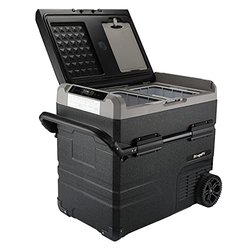 BougeRV 12 Volt Car Refrigerator Dual Zone, Portable Freezer Fridge APP Control, 59 Quart (55L)...