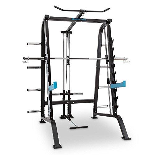 CAPITAL SPORTS Squatster Jaula de sentadillas multifunción (barra de pesas, entrenamiento halterofilia, 9...