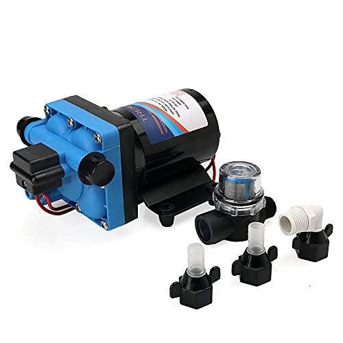 Tremax Water Diaphgram Water Pump, 12V, 3.6GPM, 55PSI, Heavy Duty Self Priming Water Pump for RV, Caravan, Yacht-12V