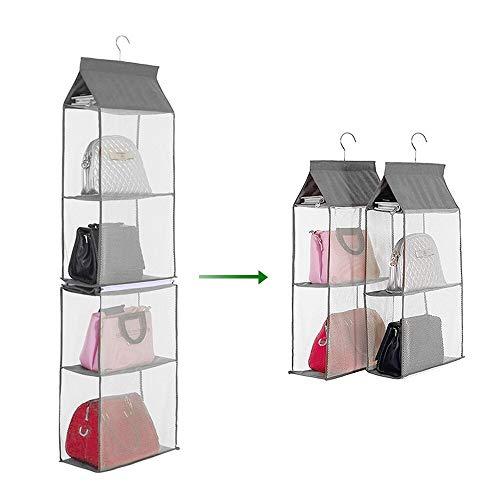 Otras herramientas de almacenamiento de 4 Niveles no tejido desmontable del armario organizador de los bolsos bolsos colgantes del estante del sostenedor plegable Ropa de accesorios de almacenamiento