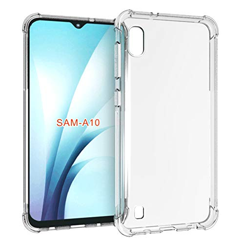 "PUSHIMEI Samsung Galaxy A10 Case[not fit Galaxy A10e 5.8""], Soft TPU Crystal Transparent Slim Anti Slip Full-Body Protective Phone Case Cover for Samsung Galaxy A10 6.2""(Clear Anti-Shock TPU)"