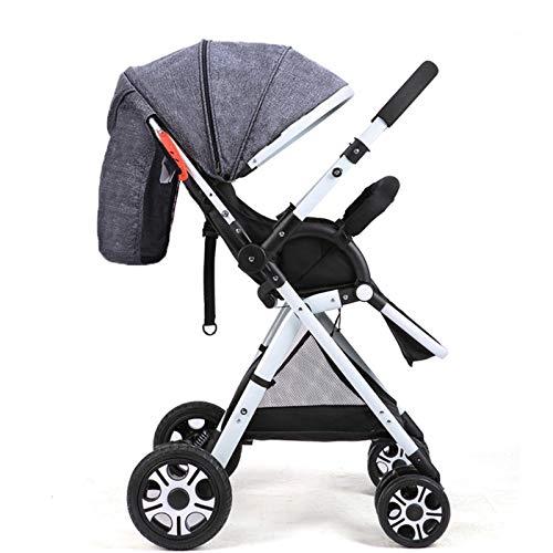Sillas de Paseo, Cochecito De Pliegue Compacto, Cochecito Ligero Adaptable para Bebé con Un Pliegue Conveniente para Recién Nacidos Y Niños Pequeños(Color:Caqui)
