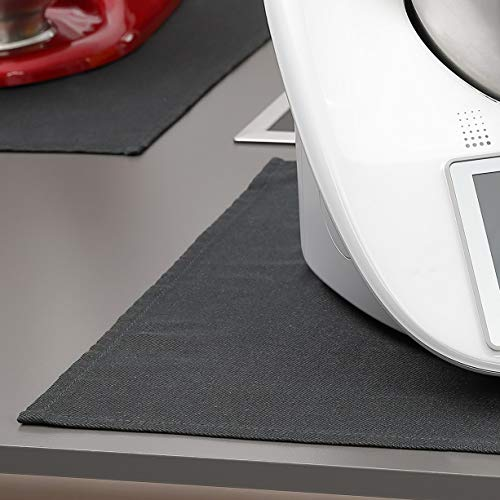 FireMat Black Edition 46x46cm Brandschutzunterlage,Schutz in der Küche geeignet für Elektrogeräte und Thermomix TM21 TM31 TM5 TM6