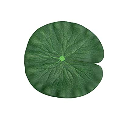 3 x Artificial Floating Foam Lotus Leaves, Green Water Lily Pads Pond Decoration, for Patio Garden Koi Fish Ponds Pool Aquarium Décor