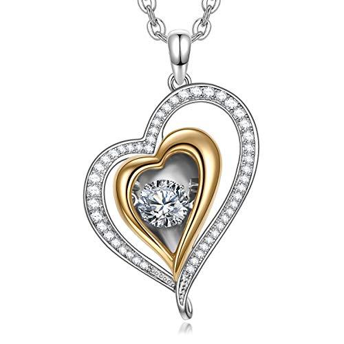 Alex Perry Regalo Collar Mujer Plata 925 Colgante Joyería para Elle Su Madre Amante Cumpleaños Aniversario