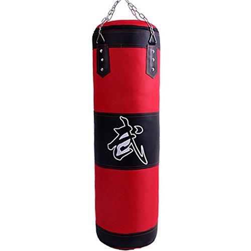 JUSTDOLIFE Boxsack Leder Leere Kette zum Aufhängen MMA Kampfsport Boxen Training Heavy Bag Kickbag