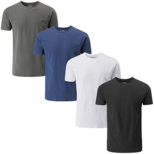 Charles Wilson Confezione da 4 T-Shirt Girocollo da Uomo Elasticizzate in Elastan (Large, Essentials 63)