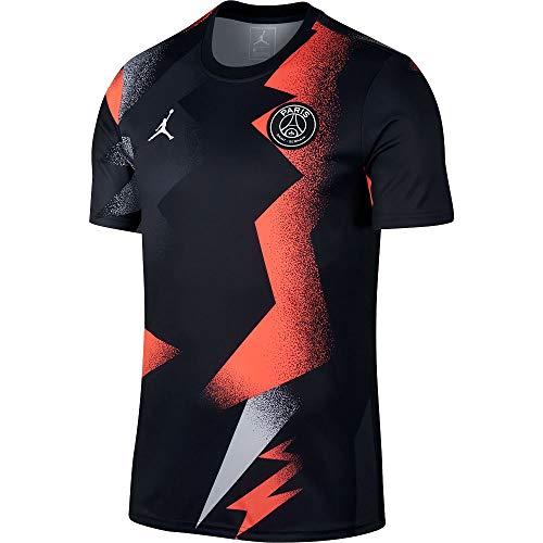 Nike 2019-2020 PSG Pre-Match Training Football Soccer T-Shirt Trikot (Black)