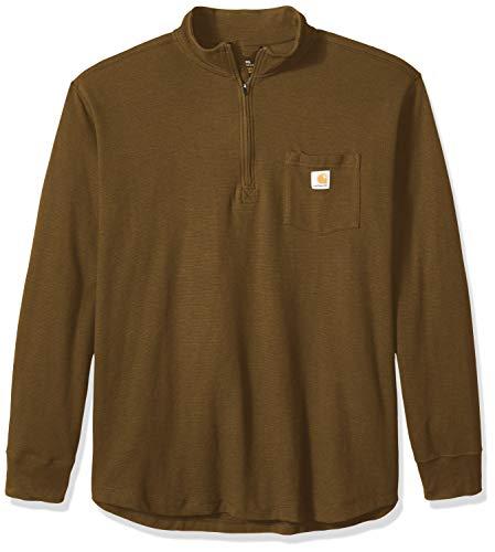 Carhartt Herren Tilden Long Sleeve Half Zip Hemd, Military Olive, XX-Large
