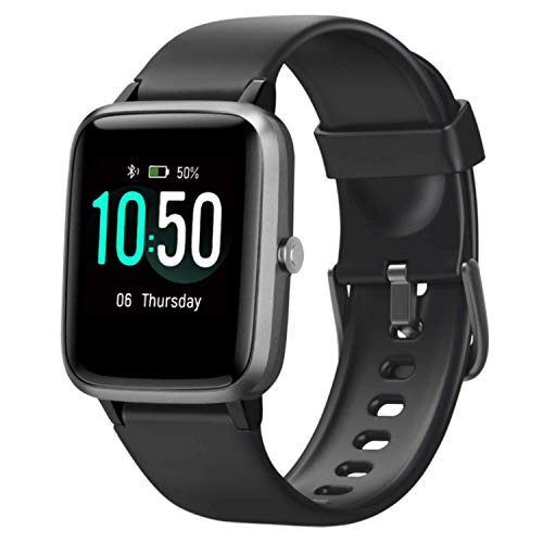 YAMAY Smart Watch Fitness Tracker Watches for Men Women, Fitness Watch Heart Rate Monitor IP68 Waterproof Digital Watch with Step Calories Sleep Tracker, Smartwatch Compatible iPhone Android Phones