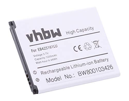 vhbw batería Compatible con Samsung Galaxy S Ace2 S3 Mini GT-i8190 GT-i8160 GT-S7562 GT-I8200 SGH-T599 GT-S7562 GT-S7568 GT-S7582 sustituye EB-F1M7FLU
