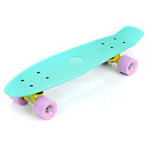 METEOR Penny Skateboard fishb Tableau Fun Sport Board Rétro Aluminium ABEC 5PVC de 60Il Lot de 80ans de 70