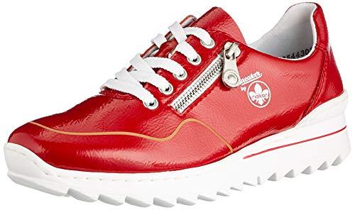 Rieker Damen M6901 Sneaker, rot, 40 EU