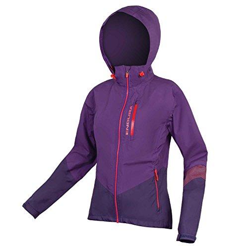 Endura Women's SingleTrack II Mountain Bike Jacket - Waterproof Cycling Jacket Purple, X-Small