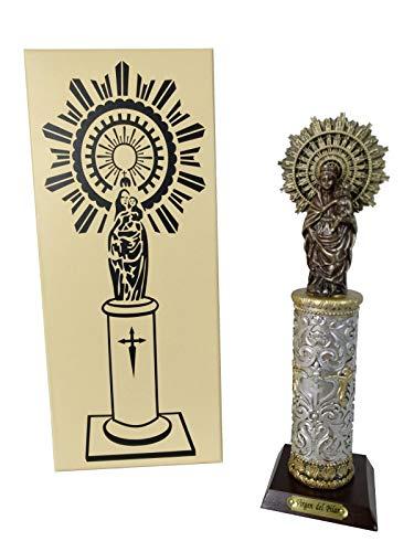 DONREGALOWEB Figura Resina Virgen del Pilar de 20 cm con Caja de Regalo