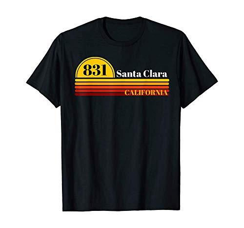820 Santa Clara California Vintage Retro Style Area Code T-Shirt Short-Sleeved Shirt Top SweatshirtBlackM