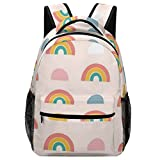 Jmax Beautiful Rainbows Print Funny Backpacks for Boys and Girls Preschool Backpack With Chest Strap