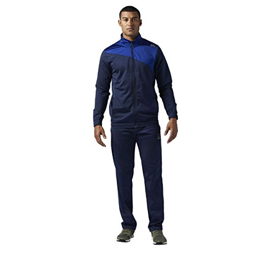 Reebok Ts Tricot Trainingsanzug, Herren S blau (deecob/Maruni)