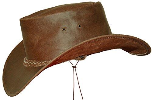 Black Jungle Broome - Cowboyhut aus Rindsleder mit Kinnriemen, braun L
