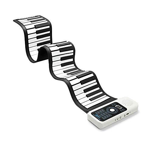 Tastiera Pianoforte Pieghevole 61 Tasti, Tastiera Pianoforte 61 Tasti Flessibile Morbido Elettronico Digitale Midi Roll Up Keyboard Piano (61 Tasti)