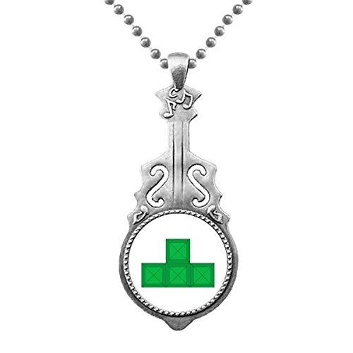 Klassische Spiele Tetris Green Block Anhänger Schmuck Musik Gitarre Torque Star Moon