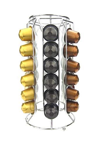 Ducomi Porta Capsule Nespresso - Portacapsule Compatibile Con Cialde Caffè Nespresso - Accessori Cucina Tavolo per Macchinetta Caffe Espresso - Dispenser Portacialde Idea Regalo (36 Capsule)