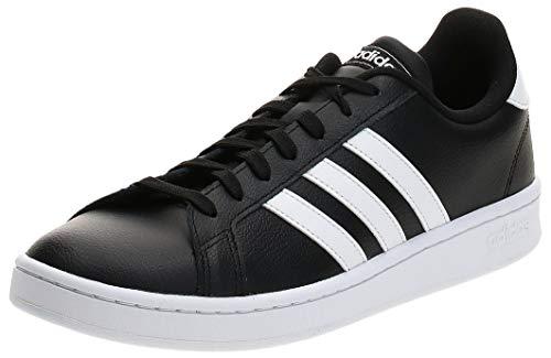 adidas Herren Grand Court Sneaker, Core Black/Cloud White/Cloud White, 44 2/3 EU