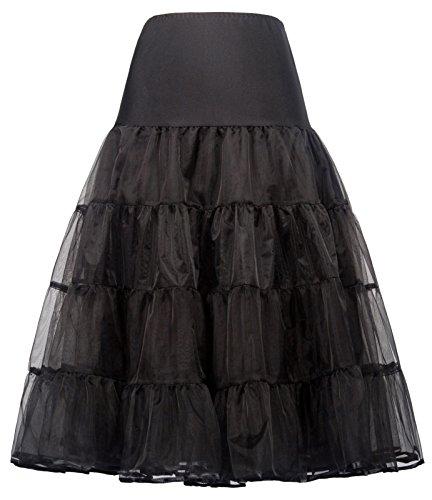 GRACE KARIN Falda Interior Larga Enaguas 50s para Vestido de Novia Rockabilly