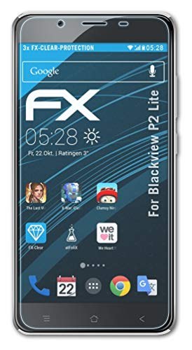 atFolix Schutzfolie kompatibel mit Blackview P2 Lite Folie, ultraklare FX Bildschirmschutzfolie (3X)