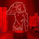 Lámpara 3D Anime My Hero Academia Shota Aizawa Luz Niño Niños Regalo de Cumpleaños Manga Aizawa Lámpara My Hero Academia para Decoración de Dormitorio