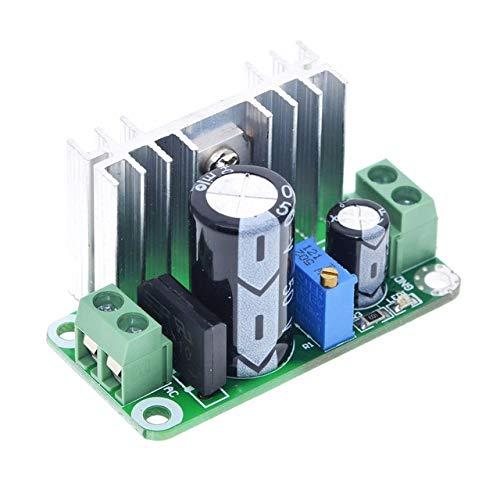 YuanBo Wu LM317T DC-DC Ajustable convertidor Buck Paso Placa de Circuito Reduce el módulo de Fuente de alimentación Lineal Regulador con Filtro rectificador