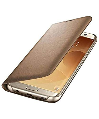 COVERNEW Flox Leather Flip Cover for Samsung Galaxy Note Edge SM-N9150 - Golden