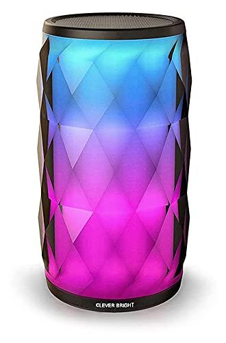Altavoz Bluetooth con Luz, Altavoz Inalámbrico Portátil, Diseño de...