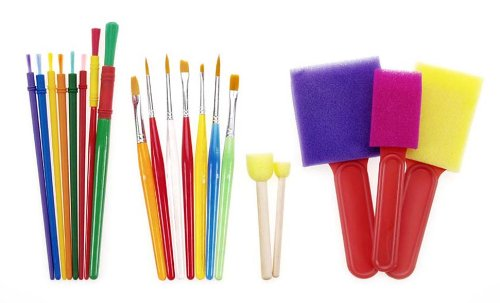 Darice 20-Piece Kids Brush Set