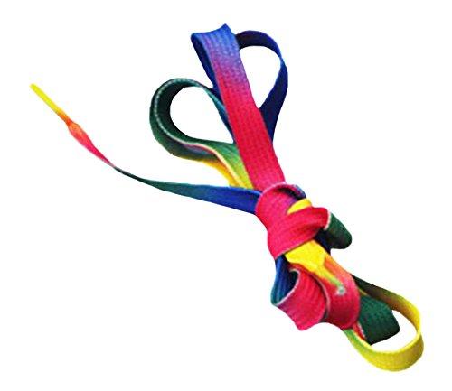 Black Temptation Colorful Gradient de Rainbow Souliers Lacets 80CM