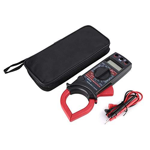 DT266 Pinza amperimétrica, pinza amperimétrica de 1000 V 750 V DC AC, frecuencia de muestreo de 3 veces segundo, multímetro digital amperímetro de muestreo 200 1000A con pantalla LCD