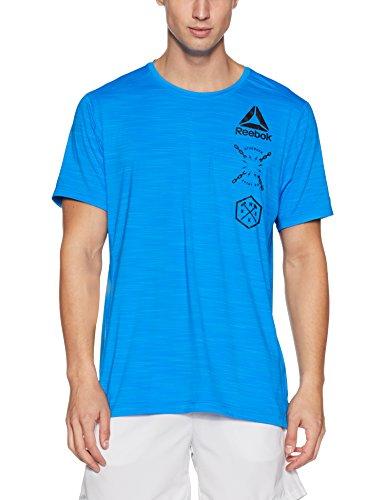 Reebok - Running-T-Shirts für Herren in Blau/Horblu, Größe XL