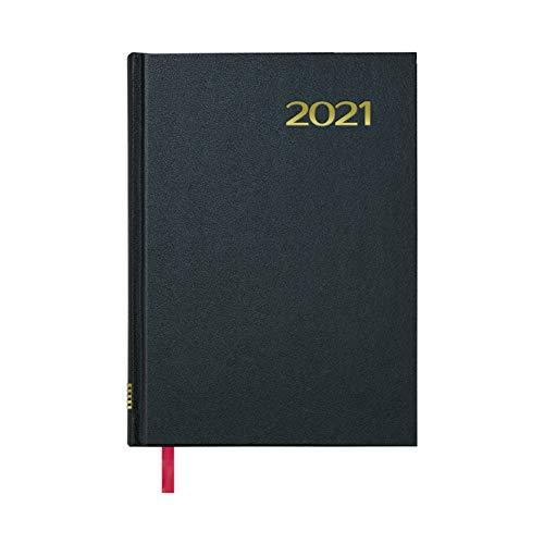 Dohe Agenda Sintex - Agenda Anual en Formato Día por Página - Medidas 14 x 20 cm - 288 páginas - Color Negro - Idioma Catalán