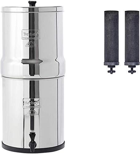 Big Berkey - Filtro de agua alimentado por gravedad con 2 elementos de purificación Berkey negros